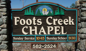 Foots Creek Chapel Sign